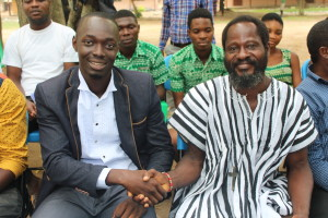 Dr. Kingsley Ampudu (left), Country Director of Lead One Africa Ghana